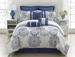 Beautiful Blue and Grey Comforter Sets — Soifer Center ...