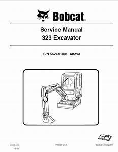 Bobcat 323 Excavator Service Manual Pdf