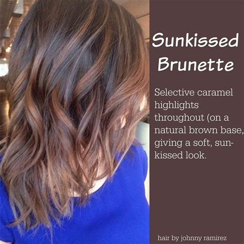 sun kissed brunette color     color