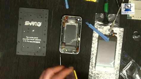 iphone gs screen digitizer  battery replacement youtube