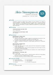 Modern microsoft word resume template alicia by inkpower for Contemporary resume templates word
