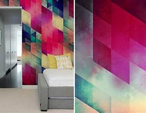 Create a captivating accent wall with geometric pattern