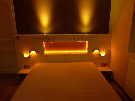 eclairage chambre chambre éclairage led orange