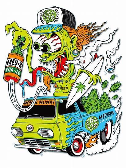 Rat Fink Cartoon 420 Band Monster Ratfink