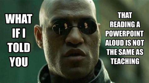 told   reading  powerpoint aloud