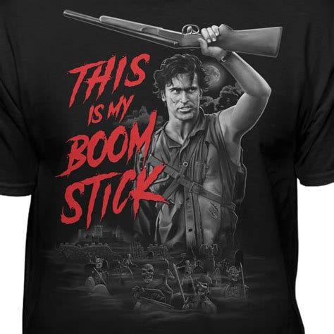 army of darkness this is my boomstick evil dead t shirt teelocity