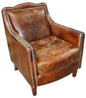 leather recliners antique vintage leather chair ebay 3700
