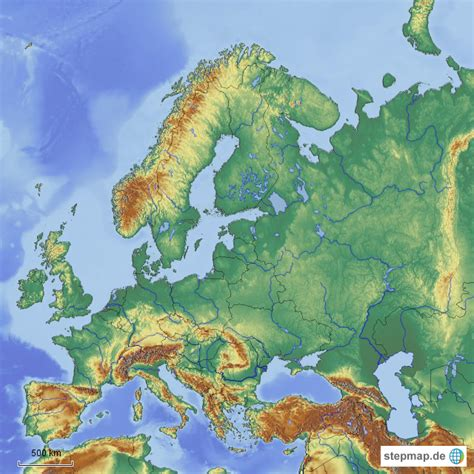 europa atlantikkueste bis ural von sanderalala landkarte