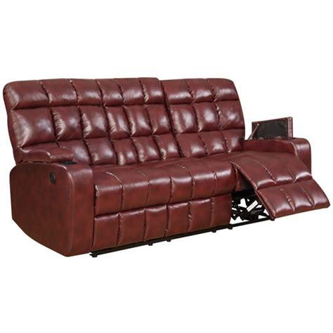 power reclining sofa with usb ports global furniture 97570 liberty power reclining burgundy