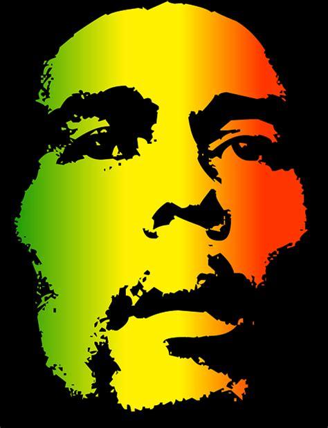 free vector graphic bob marley reggae face man free