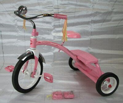 radio flyer classic dual deck tricycle pink  good