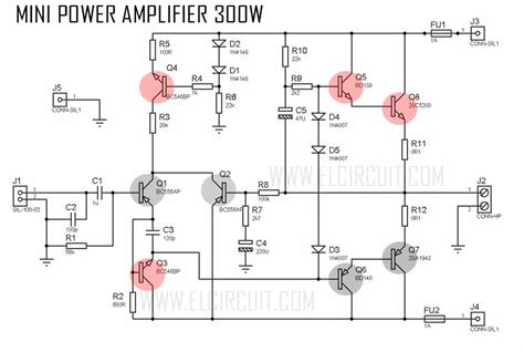 mini lifier with high power output electronic circuit