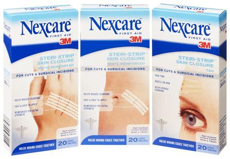 Nexcare Steri Strip Reinforced Skin Closure White 3mm X