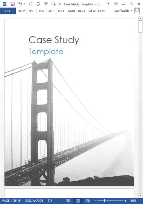 Study Template Study Templates 19 X Ms Word How To Write Tutorial