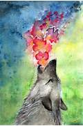 wolf  color  colorful  art  painting - image  466856 on Favim com  Colorful Wolf Painting