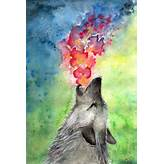 wolf, color, colorful, art, painting - image #466856 on Favim.com