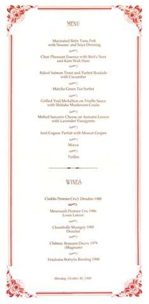 margaux la cuisine our great cuisine menu