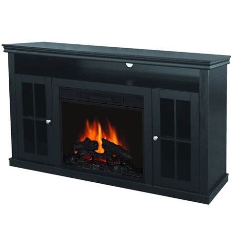 quality craft electric fireplace media unit walnut