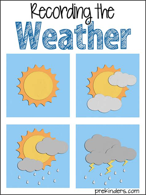 weather activities and lesson plans for pre k and