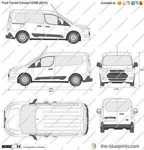 Ford Transit Connect Swb Vector Drawing
