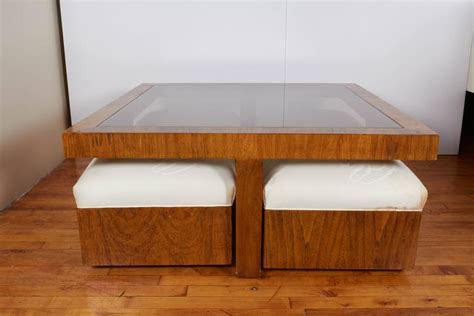 cocktail table with 4 ottomans drexel consensus collection glass top cocktail table with
