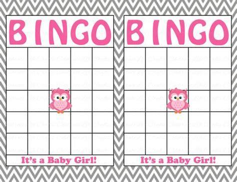 blank baby shower bingo cards printable party baby boy etsy
