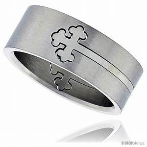 surgical steel orthodox cross ring cut out 8mm wedding With orthodox wedding rings for sale