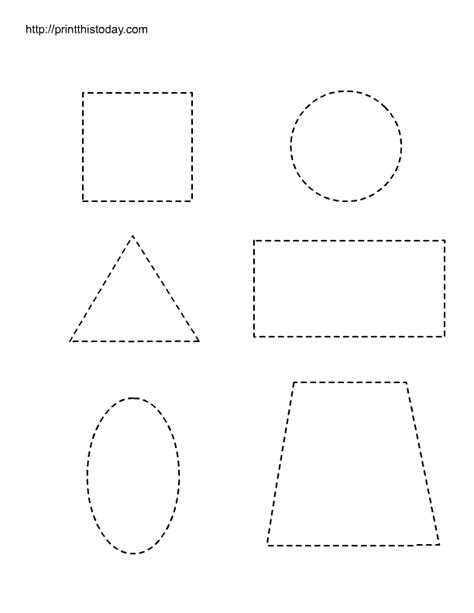 free printable worksheets with basic shapes for preschool 269 | shapes1 trace