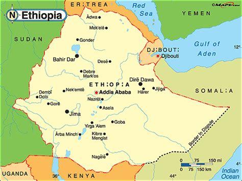 ethiopia political map  mapscom  mapscom world