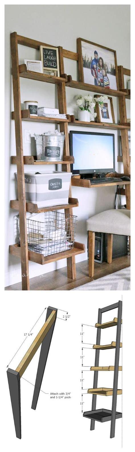 bureau diy diy fabriquer un bureau avec des étagères floriane lemarié