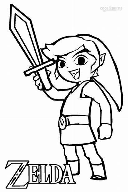 Zelda Coloring Pages Legend Printable