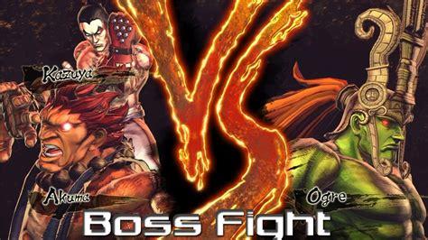 Street Fighter X Tekken Akuma Vs Ogre Boss Fight Hd