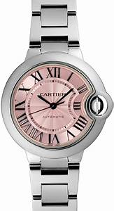 W6920100 Cartier Ballon Bleu Womens Automatic Pink Roman ...