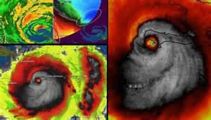 scary skull  hurricane matthew
