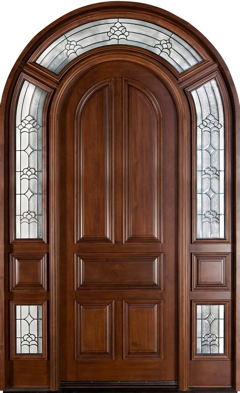 front door custom single   sidelites solid wood