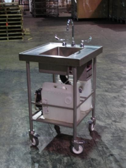 used self contained portable sink britz msk sc sinks and tables stainless steel mobile for