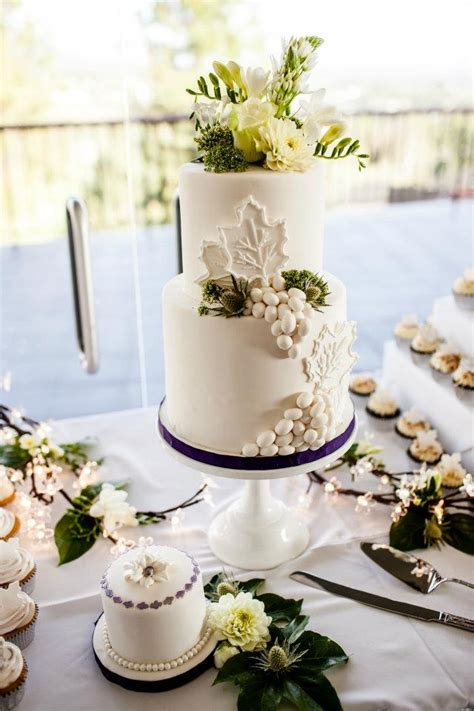 white wine themed wedding cake  cupcakes