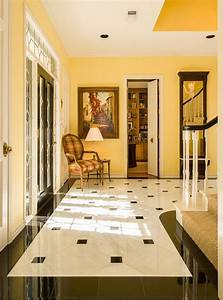 Decoration, Yellow, Wall, Color, With, Elegant, Marble, Tile
