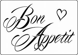 Bon Appetit vintage style stencil to buy online now