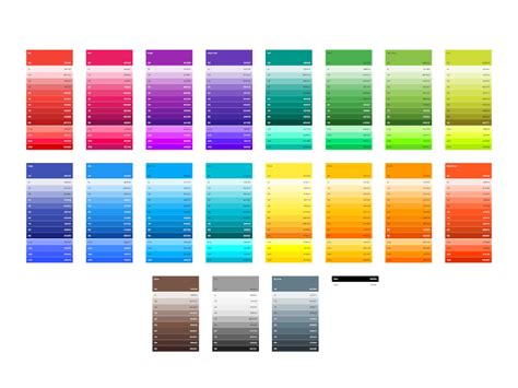 material colors material design sketch color swatches sketch