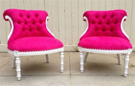 Vanity Chairs, Chesterfield And Hot Pink On Pinterest