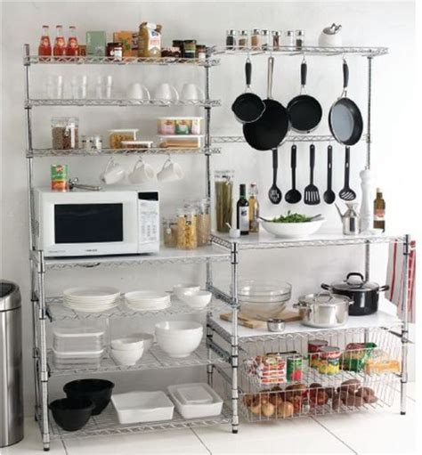 free standing kitchen storage ideas best 25 metal kitchen shelves ideas on 6727