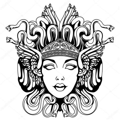 Kleurplaat Gucci Logo by Medusa Gorgon Portrait Stock Vector 169 Blackspring1