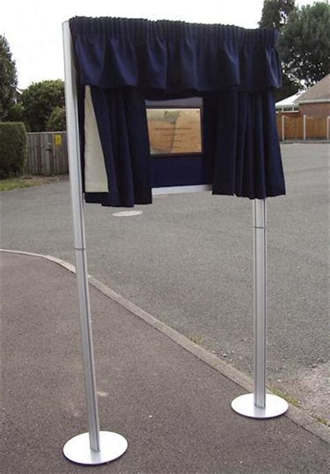 unveiling curtain stand backing panel hire