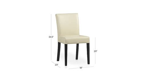 lowe ivory leather dining chair crate and barrel