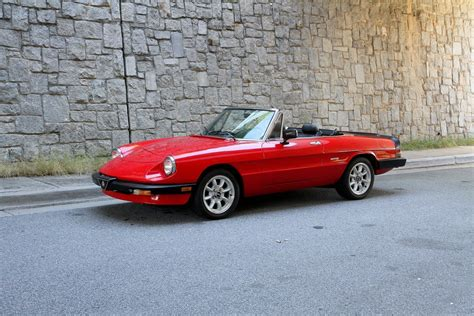 Alfa Romeo The Graduate by 1987 Alfa Romeo Spider Graduate For Sale 91422 Mcg