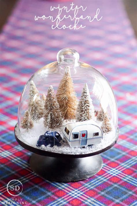 Diy Winter Wonderland Cloche  Adult Crafts Pinterest
