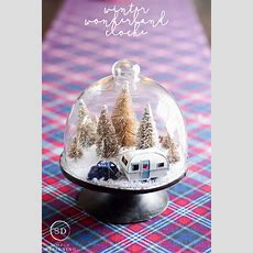 Diy Winter Wonderland Cloche  Adult Crafts Christmas