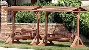 free standing porch swing Standard Bench Swing (seats 2