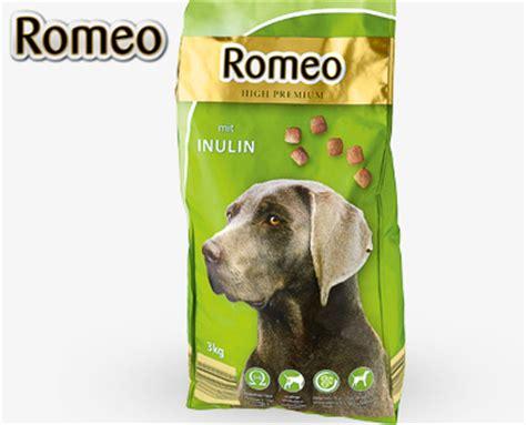romeo hundevollnahrung beutel von aldi sued